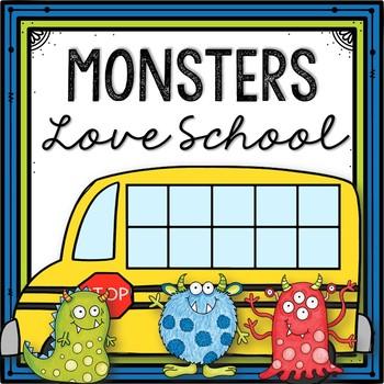 Monsters Love School Picture Book Activities