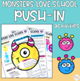 Monsters Love School Preschool Circle Time/Push In Activit