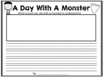 Monsters Love Underpants Book Helper