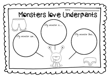 Monsters Love Underpants Book Study