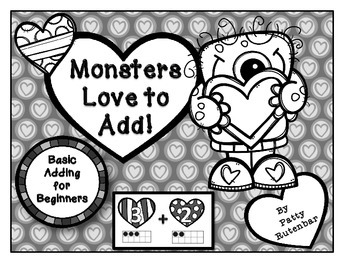 Monsters Love to Add in Black & White