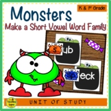 Monsters Make A Short Vowel Word Family Center