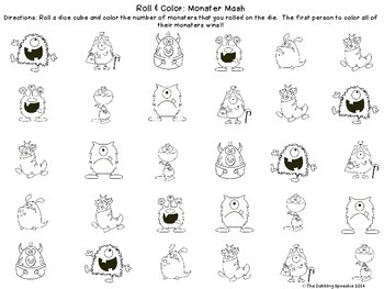 Monster's Mash: No Prep, Print N' Go FREEBIE PACK
