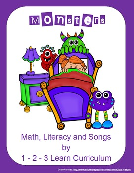 Monsters Math, Literacy and Songs