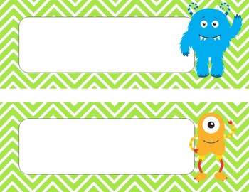 Monsters Mini Classroom Decor Pack {EDITABLE}