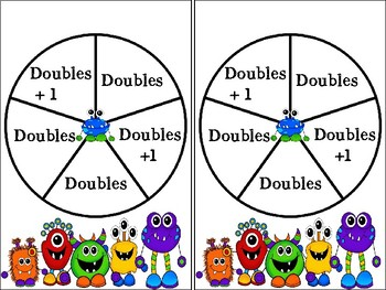 Addition - Doubles Facts with  the Monsters!