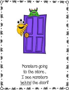 Monsters, Monsters Everywhere: A Positional Words Story