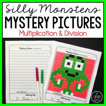 Monsters Mystery Pictures Multiplication and Division