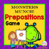 Monsters Munch!  Speech Therapy Prepositions Game