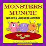Monsters Munch! Speech Therapy: Plurals, Categories, Directions, Describing