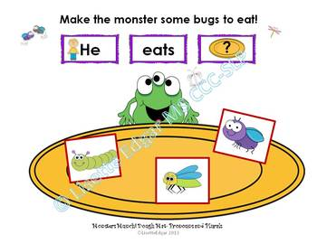 Monsters Munch! Speech Therapy: Plurals, Categories, Directions, Describing