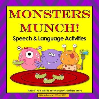 Monsters Munch! Speech Therapy: Plurals, Categories, Direc