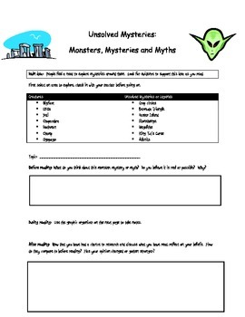 Unsolved Mysteries Monsters, Mysteries and Myths