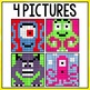 Mystery Pictures Addition & Subtraction (Monsters)