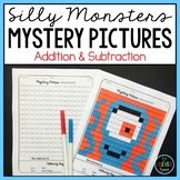 Mystery Pictures Monsters - Addition & Subtraction Facts