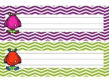 Nameplates / Deskplates / Classroom Labels {Monsters}