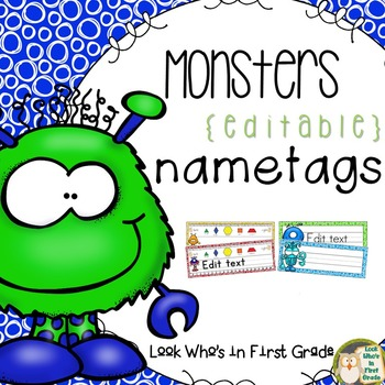 Monster Nametags ~ Editable