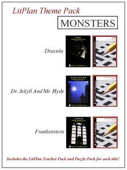 Monsters Novel Unit Theme Pack Bundle