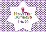 Monsters Number Posters 1-20