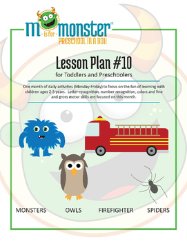 Monsters, Owls, Firefighter, & Spiders Lessons