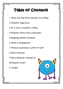 Monsters Party Book Study Pack