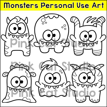 Monsters Personal Use Art to Match My Monsters Theme Classroom Decor