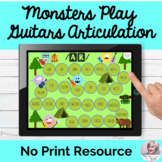 Monsters Play Guitar Vocalic R Gameboards Articulation Teletherapy