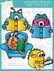 Monsters Reading Clip Art