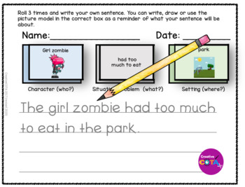 Monsters Roll and write a Sentence or Story