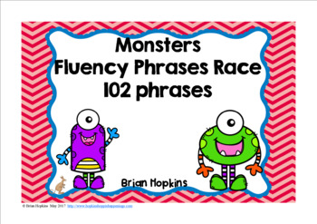 Monsters Sight Word Fluency Phrases Race