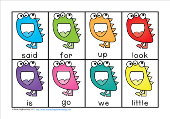 Monsters Sight Word Race