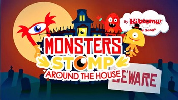 Monsters Stomp Around the House Halloween Music Video for Kids