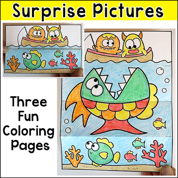 Monsters Surprise Pictures Coloring Pages