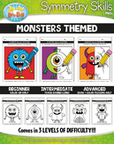 Monsters Symmetry Skill Activity Pack {Zip-A-Dee-Doo-Dah Designs}