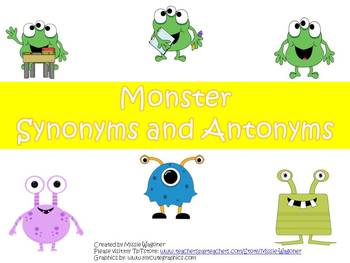 Monsters Synonyms and Antonyms