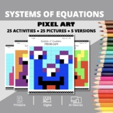 Monsters: Systems of Equations Pixel Art