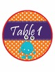 Monsters Team & Table Circle Signs - EDITABLE