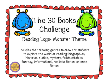 Monsters Theme 30 Books Challenge