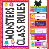 Monsters Theme Class Rules - EDITABLE
