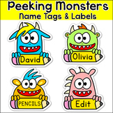 Monster Theme Name Tags & Labels