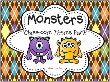 Monsters Theme Classroom Pack for Back to School!
