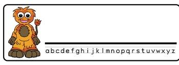 Monsters Theme Desk Nameplates (Set of Four)