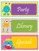 Monsters Theme Schedule Cards - EDITABLE