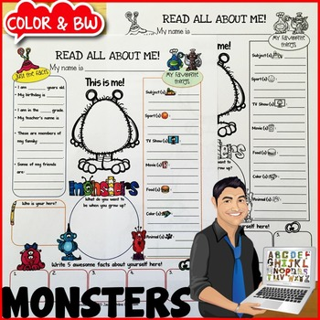 Monsters All About Me Poster