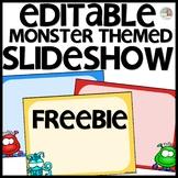 Monster Themed Slideshow Presentation Editable - just add text