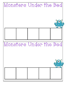 Monsters Under the Bed:  A Pre-K Counting Unit