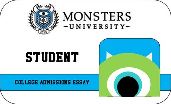 Monsters University College Admissions Essay