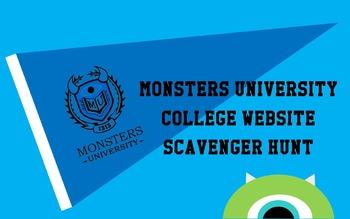 Monsters University College Website Scavenger Hunt