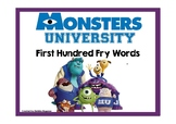 Monsters University Fry First Hundred Words Activity Pack