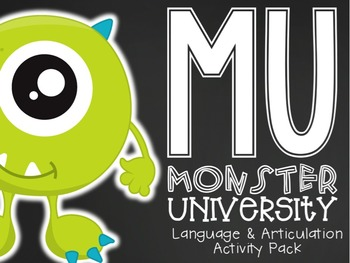 Monsters University {Language/Articulation Activity Pack}
